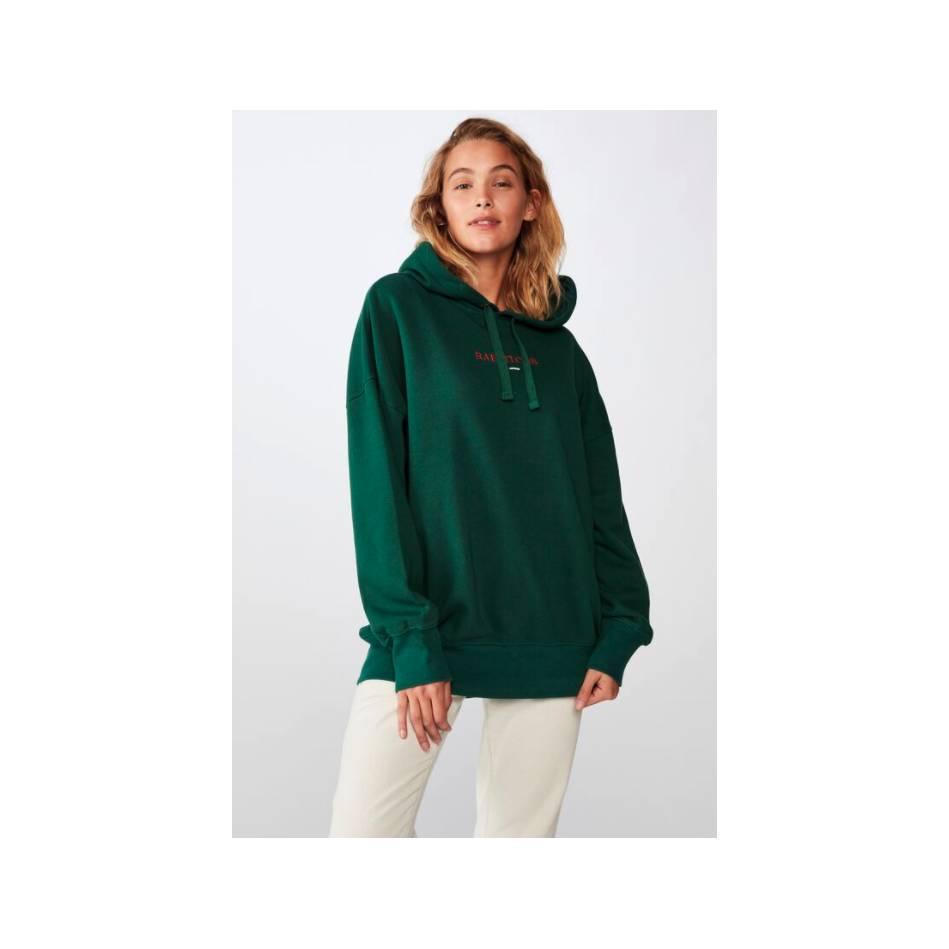 Ladies Green Cotton On Hoody0