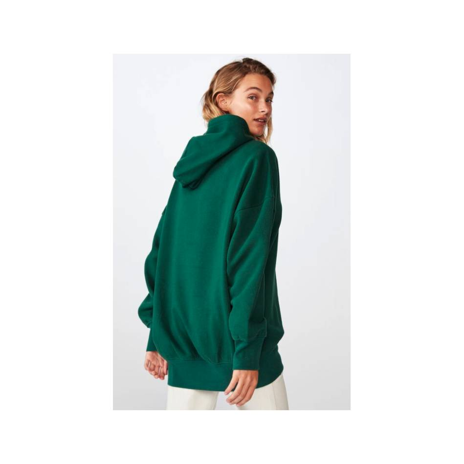 Ladies Green Cotton On Hoody2