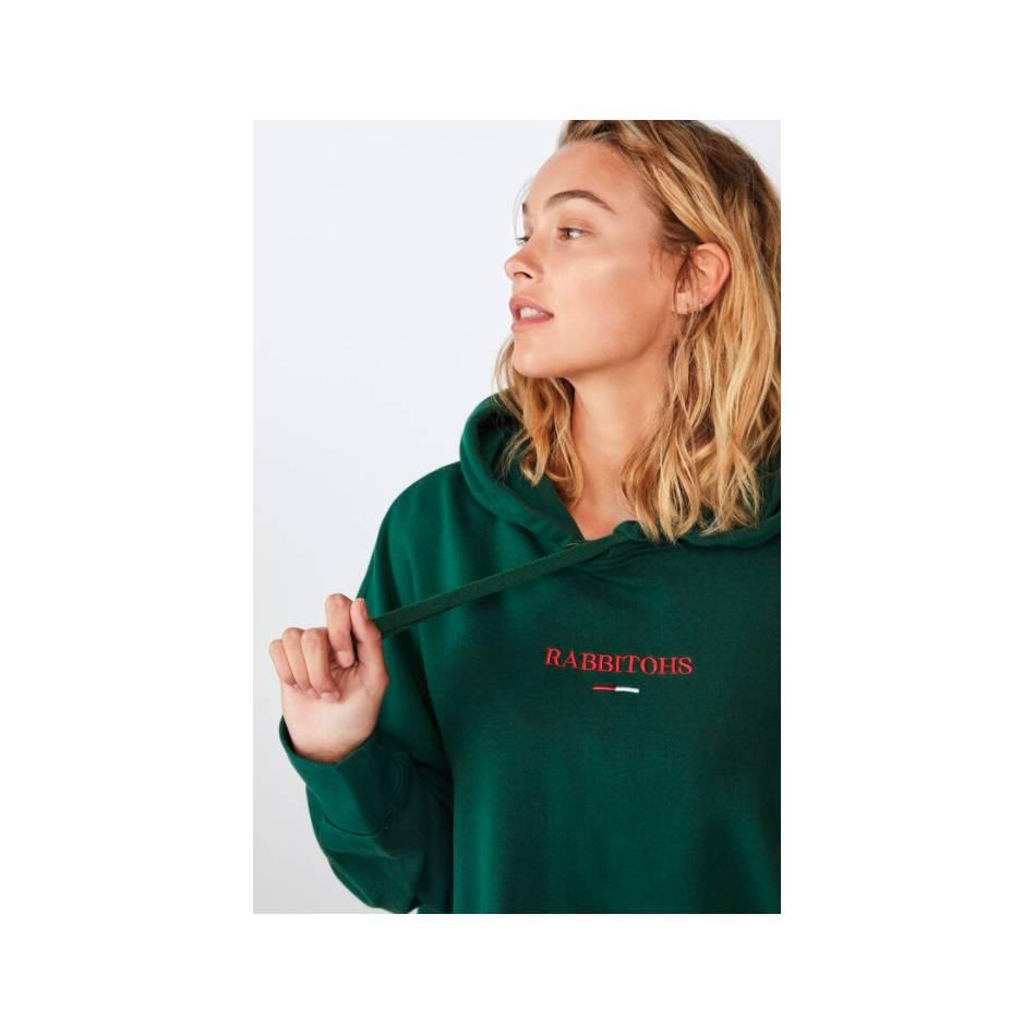 Ladies Green Cotton On Hoody3