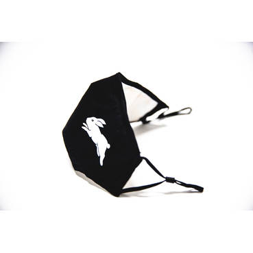Black Rabbitohs Face Masks