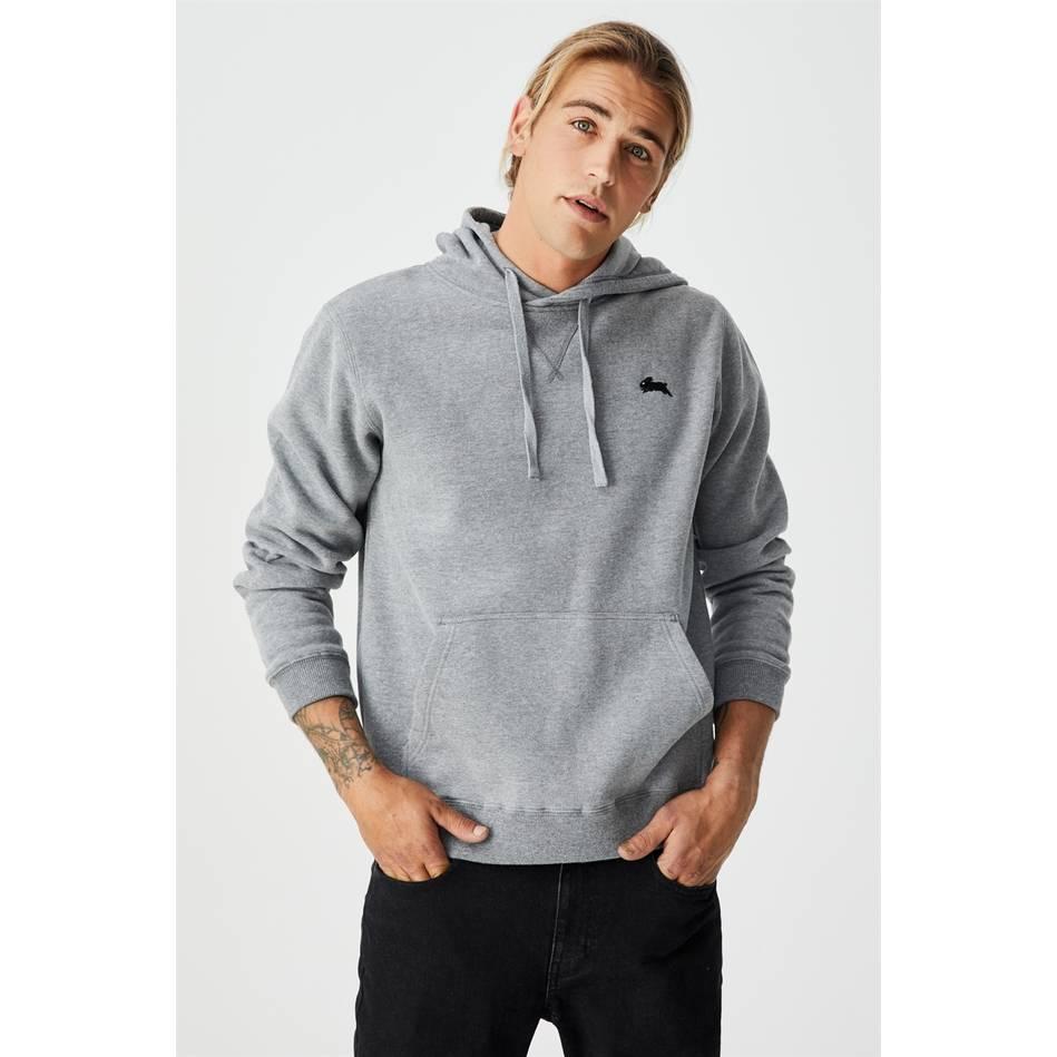 Essential  Grey Fleece Hoodie0