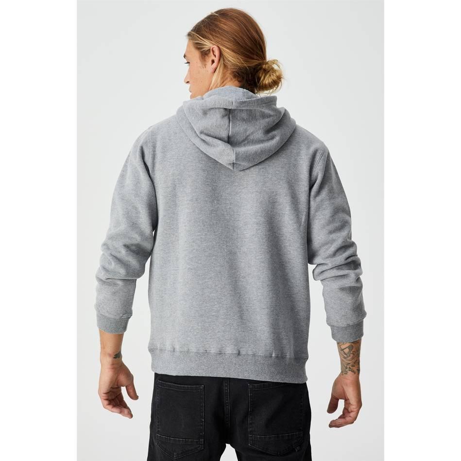 Essential  Grey Fleece Hoodie2