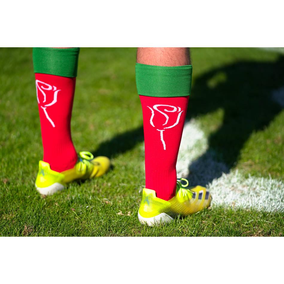 main#17 Thomas Burgess Signed Cystic Fibrosis Socks0