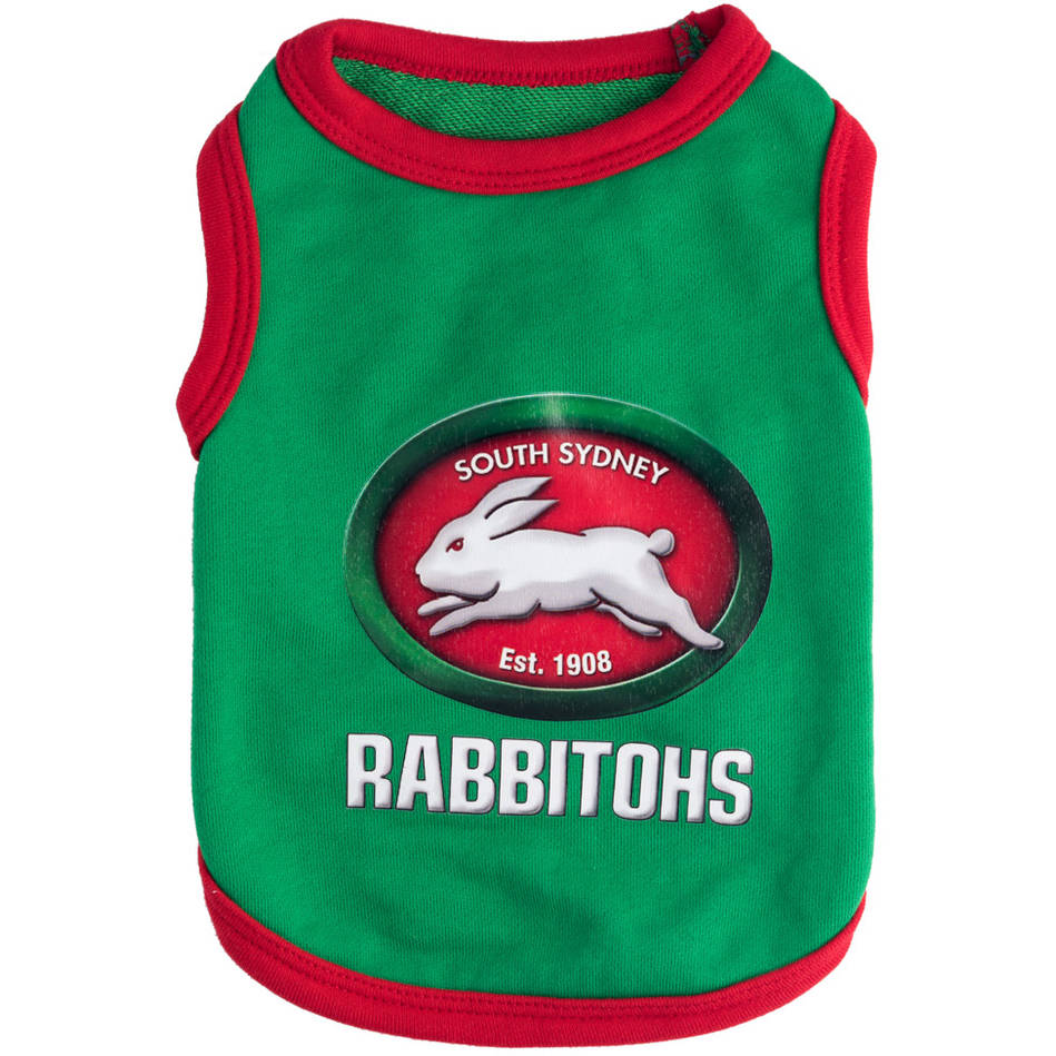 mainRabbitohs Pet T-shirt (4XL)0