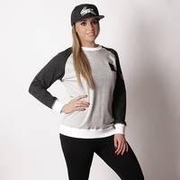 Ladies Grey Classic Pullover1