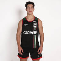 2018 Mens Black Training Singlet0